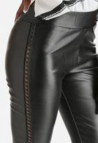 WYLDR - Runner PU Leather Lace Up Leggings