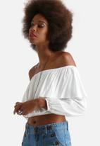 Glamorous - Long Sleeve Crop Top