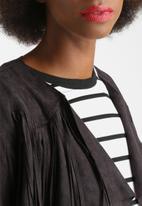Glamorous - Suedette Fringe Jacket
