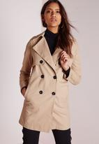 Missguided - Double Breasted Trench Coat