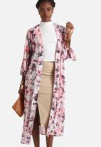 Neon Rose - Explosive Print Kimono