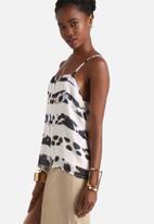 Neon Rose - Leopard Zebra Print Cami