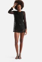 Influence. - Crochet Lace Long Sleeve Top