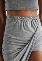Influence. - Jersey Midi Skirt With Asymmetric Hem