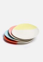 Urchin Art - Set of 4 Colour Block Side Plates