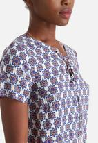 Influence. - Notch Neck T-Shirt Dress