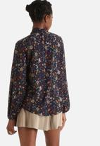 Influence. - Floral Pussy Bow Blouse