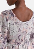 Influence. - Spring Floral Flared Sleeve Dress