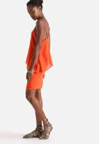 Influence. - Double Layer Drapey Solid Cami Dress
