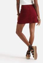 Influence. - Faux Suede Pocket Skirt