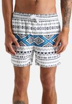 Another Influence - Aztec Print Swim Shorts