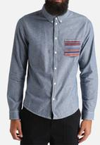 Another Influence - Denim Shirt with Aztec Pocket