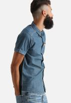 Another Influence - Short Sleeve Shirt with Aztec Pocket