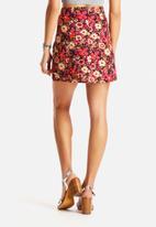 Glamorous - Cord Flower Skirt