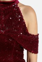 Lavish Alice - Velvet & Sequin Open Sleeve Dress
