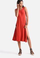 Influence. - Sleeveless Split Side Maxi  Dress