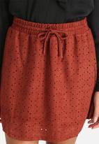 Vero Moda - Laser Cut Faux Suede Skirt