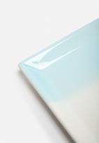 Urchin Art - Blue Stripe Platter