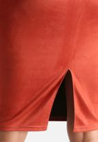 AX Paris - Faux Suede Midi Skirt