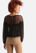 AX Paris - Sheer Crochet Top