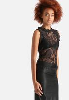 AX Paris - Crocheted Lace Top