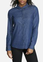 b0e2dbed7c9 Ella SL Denim Shirt - Medium Blue Denim Vero Moda Shirts ...