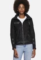 Noisy May - Snow Faux Shearling Jacket