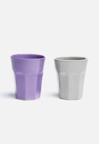 Urchin Art - Set of 2 Ceramic Glasses