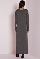 Missguided - Dipped hem long sleeve tunic