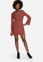 Glamorous - Funnel Neck Lurex Dress