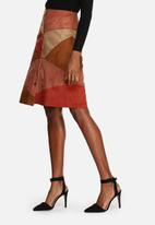 Glamorous - Suede Patchwork Skirt