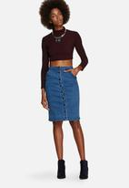 Glamorous - Denim Button Midi Skirt