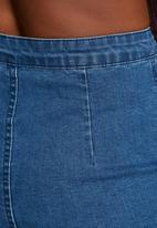Glamorous - Denim Button Midi Skirt