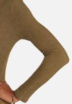 Glamorous - Tie-up Rib Bodysuit