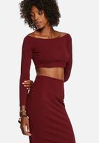 Glamorous - Straight Shoulder Crop Top