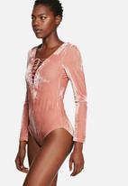 Glamorous - Velvet Bodysuit