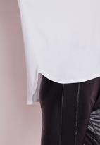 Missguided - Long sleeve curve hem T-shirt