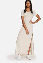 dailyfriday - Ribbed Slit Maxi Dress