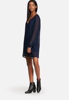 dailyfriday - Chiffon Long Sleeve Dress