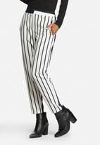 ONLY - Best Mid Waist Ankle Striped Pants
