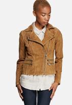 ONLY - Justine Suede Biker Jacket