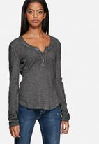 GUESS - Lace Trim Henley Top