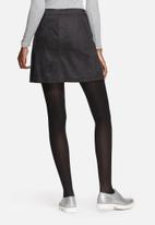Pieces - Coline faux suede A-line skirt