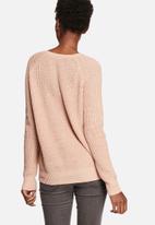 VILA - Lace-Up Sweater