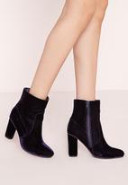 Missguided - Velvet Ankle Boots