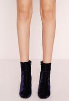 Missguided - Velvet Ankle Boots