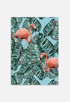 83 Oranges - Whimsical flamingo pattern