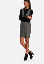 Neon Rose - Wool cocoon dress