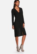 Neon Rose - Flared sleeve midi dress