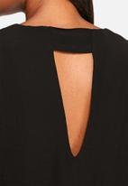 Neon Rose - Tie neck tunic